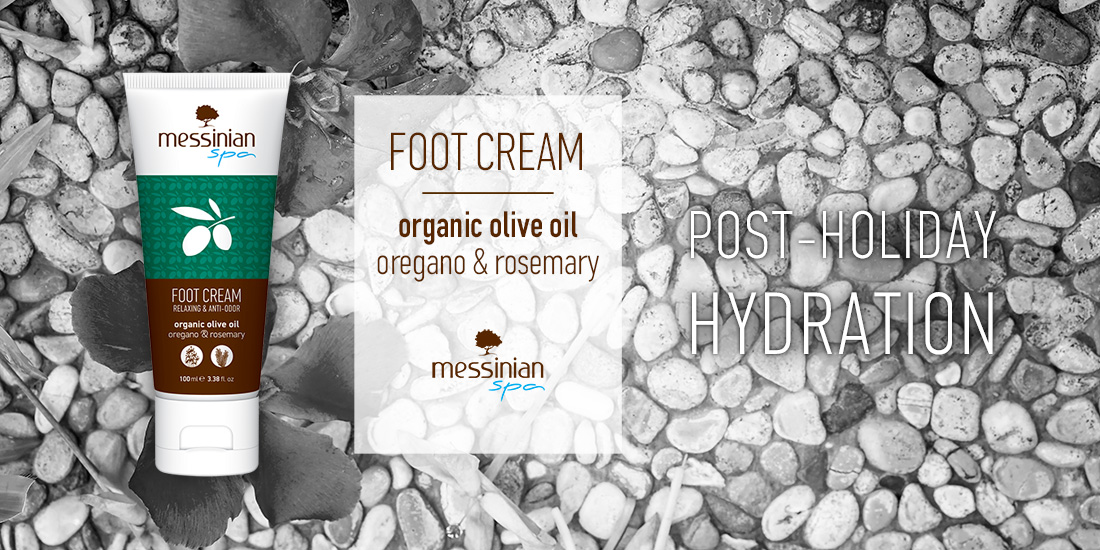 post - holiday hydration foot cream