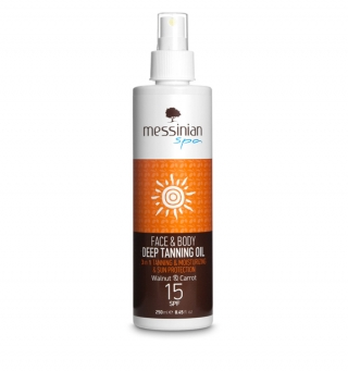 SUNSCREEN - DEEP TANNING OIL Walnut & Carrot SPF 15 - 250ml